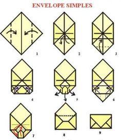 Origami de Envelope Simples by judith