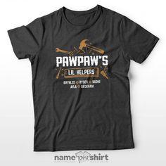 Grandpa and Dad Lil Helper Personalized T-Shirt - Premium Dark Grey / 2XL