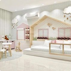 kleinkind zimmer 160 fun kids playroom ideas to inspire you - page 31 Baby Bedroom, Girls Bedroom, Bedroom Decor, Bedrooms, Nursery Room, Girl Nursery, Childs Bedroom, Trendy Bedroom, Kids Room Design