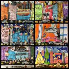 Romare Bearden Art Lesson Project // NYC cityscapes// Special Education // middle school age students // Medium: drawing, painting and collage // 2015