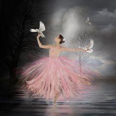Moon Dance by Marie Otero - Photo 152470535 / Ballet Art, Ballet Dancers, Ballerina Kunst, Ballerina Silhouette, Ballerina Painting, Moon Dance, Dance Paintings, Ballet Photography, Belle Photo