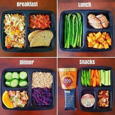 Food diary All my meals & snacks for the day made from this week's meal prep Really believe that healthy eating doesn. Lunch Meal Prep, Healthy Meal Prep, Healthy Snacks, Healthy Eating, Healthy Lunch Ideas, Fast Healthy Meals, Dinner Healthy, Lunch Snacks, Work Lunches