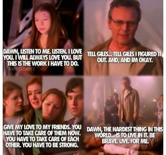 Buffy ---cried like no other during these last scenes of season 5.