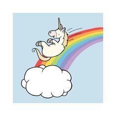 Sky Slide Rainbow Unicorn Etsy Cartoon Real Cute