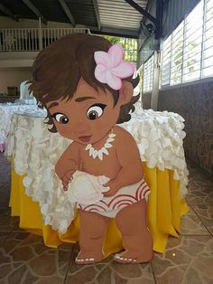 Moana Theme Birthday, 1st Birthday Girls, Diy Birthday, Birthday Party Decorations, First Birthday Parties, Party Themes, Party Ideas, Birthday Ideas, Moana Disney