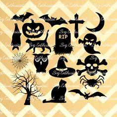 Halloween bundle SVG, Halloween SVG , bats Svg, Halloween cut file, halloween silhouette svg, Vinyl, EPS, Dxf, Cut Files, Clip Art, Vector, by…