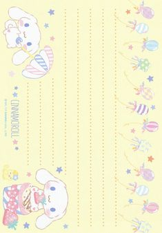 Sanrio Cinnamoroll Memo w/ Stickers Sanrio Wallpaper, Kawaii Wallpaper, Printable Scrapbook Paper, Printable Paper, Stickers Kawaii, Hello Kitty My Melody, Cute Stationery, Stationary, Memo Notepad