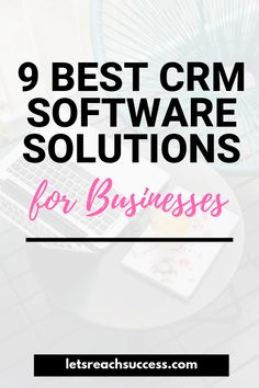 With good CRM, businesses get a better understanding of their customers. Here's a list of the best CRM software solutions: Marketing Poster, Marketing Logo, Sales And Marketing, Business Marketing, Marketing Software, Marketing Ideas, Digital Marketing, Business Software, Business Tips