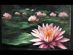 Waterlily Step By Step On How To Create A Minature Oil Painting by Stephen Filarsky - YouTube