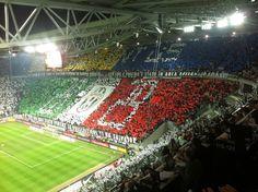Juventus Stadium choreography against Inter