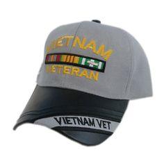VIETNAM VETERAN BAR TWO TONE SHADOW HAT Veteran Hats, Vietnam Veterans, Bar