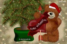 Frohe Weihnachten. Animierte Weihnachtskarte mit Herz