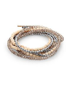 Brunello Cucinelli Multi-Stone Wrap Bracelet 32000 руб