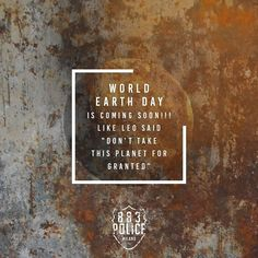 #WorldEarthDay is around the corner what are you doing about it? Ever gave it a thought? #Environment #883PoliceIndia #Denims #MensWear #men #Fashion #Shopping #OnlineShopping #Product #Brand #swag #Style #Outfit #OTD #Jeans #Polos #tshirts #jackets #shirts #Indiranagar #Bengaluru #Bangalore #BengaluruFashion #ShopNow #PremiumBrand #Premium #Clothes #clothing  #worldearthday2016