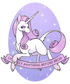 cuteosphere: unicorns are notorious for their hatred of posturing bro culture (I'm debating making this girl available as a sticker and a s...