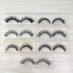 Hot 7 pairs Natural Handmade Mix Lashes Kit Makeup False Eyelashes 7 styles Wispies Eyelash Extension V-20