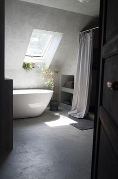 Kalkstuc in bathroom  #kalklitir