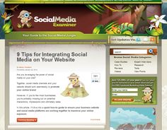 Netvantage Director of Social Media Mallory Woodrow graces the front page of Social Media Examiner on January 25, 2011 with her article on how to integrate social media on your website. Read 9 Tips For Integrating Social Media On Your Website and be sure to Tweet!