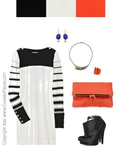 Black, white + orange can be done.