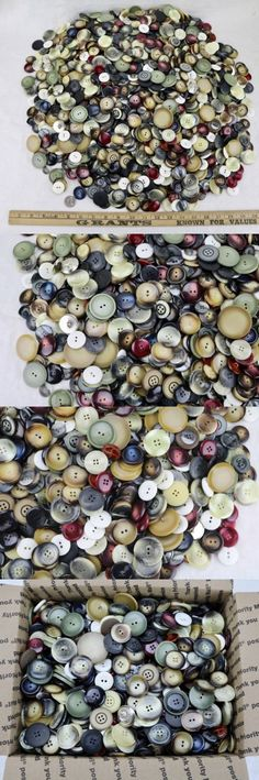 Buttons 7320: 10-Lb Vintage Button Lot, 1,700+ All Large Coat And Sweater Buttons, Nos -> BUY IT NOW ONLY: $78.95 on eBay!