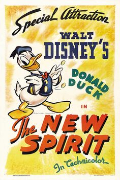 Theatrical poster of Donald Duck in the New Spirit.