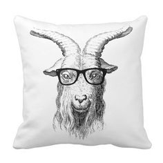 Hipster Goat Pillows