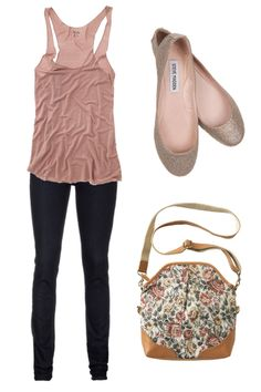 Love the baby pink with the floral purse