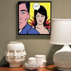 Baby Crazy // Lichtenstein Style Pop Art Print by TheGeekerie, $12.00