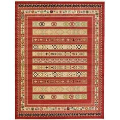 World Menagerie Foret Noire Rust Red Area Rug Rug Size: 10' x 13'