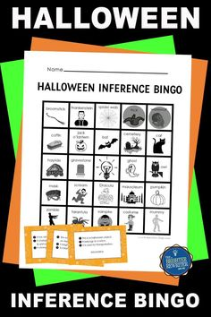 Are your 2nd-4th graders convinced of their right answers without using all available text evidence? This game uses 3 clues to prompt students to make inferences about a Halloween word or character. During the game, the teacher reads the clues aloud, pausing between each clue to allow think time. All the riddles have more than one potential answer...until the third and last clue is read. Students make a final inference and cover the answer if it is on their bingo cards! Bingo Games For Kids, Learning Games For Kids, Halloween Names, Halloween Words, Inference Activities, Text Evidence, Bingo Cards, Halloween Activities, Upper Elementary
