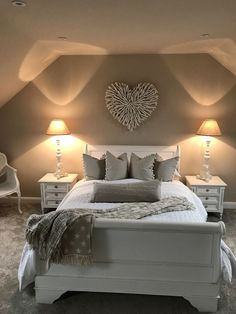 Stunning Grey and Silver Bedroom Ideas To Inspire You . - Stunning Grey and Silver Bedroom Ideas To Inspire You Dream Bedroom, Home Decor Bedroom, Girls Bedroom, Bedroom Ideas, Nursery Ideas, Bedroom Bed, Master Bedrooms, Trendy Bedroom, Cosy Home Decor