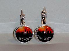 Ohrringe - Ohrringe New York Skyline Schmuck Ohrschmuck Glas - ein Designerstück von ausgefallene-Ohrringe bei DaWanda
