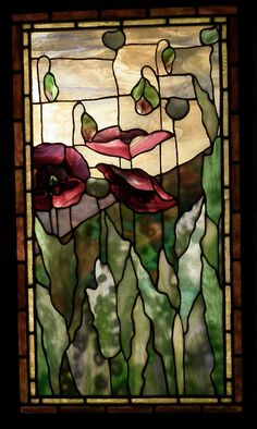 Two Flower Windows Detail, from the Smith Museum of Stained Glass Windows, Chicago.