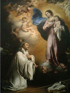 Vision of St Bernard.Murillo.Museo del Prado.Madrid.