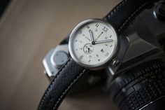 Xetum Men's Watch: Tyndall, Off-White Dial, Brown Leather Strap