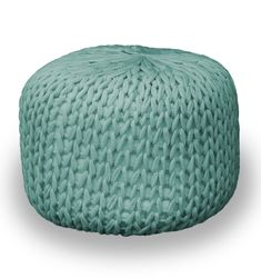 Hand knitted footstool Large Chunky Ottoman Pouffe in all aspects of construction and style free wordewide shipping Leather Ottoman, Pouf Ottoman, Pouf Cuir, Knitted Pouf, Moroccan Pouf, Outdoor Furniture, Outdoor Decor, Hand Knitting, Collection