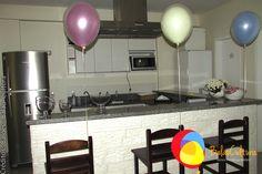Decoração Peppa com balões duplos. Créditos:  Balão Cultura www.boxbalao.com Peppa Pig, Pastel, Ideas Para Fiestas, Colors, Culture, Cake, Color Palettes