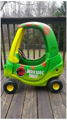 Baby Boy Toys, Baby Kids, Baby Baby, Cozy Coupe Makeover, Jurassic Park Party, Dinosaur Nursery, Dinosaur Dinosaur, Dinosaur Prints, Little Tykes