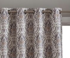 me Verona Damask Full Blackout Room Darkening Thermal Insulated Curtain Grommet Panels For Bedroom - Energy Efficient - Pair Size: 50 inch W x 84 inch Large - Set of Multicolor Grommet Curtains, Sheer Curtains, Blackout Curtains, Panel Curtains, Insulated Curtains, Fade Designs, Room Darkening, Guest Bedrooms