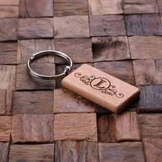 Personalized Wood Key Chain – Rectangular