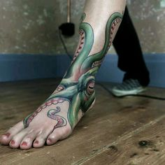 Octopus Ankle Tattoo Tattoos Tatuaje Kraken Tatuaje Pulpo Surf with measurements 1080 X 1080 Octopus Ankle Tattoo - How would you like to explore your