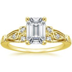 18K Yellow Gold Rosabel Diamond Ring from Brilliant Earth