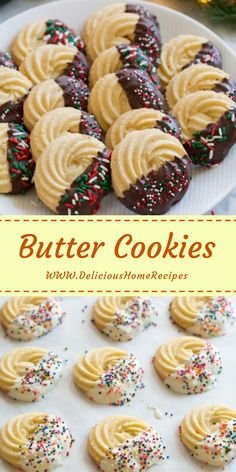 Butter Cookies A artist Noel cookies that everyone loves! This homespun edition is far outmatch than what you'll feat in the tins at the store during Italian Butter Cookies, Italian Cookie Recipes, Easy Cookie Recipes, Peanut Butter Cookies, Cake Recipes, Dessert Recipes, Almond Cookies, Butter Cookies Recipes, Chocolate Cookies