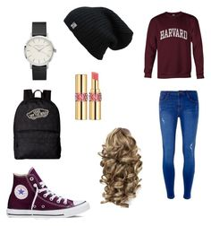 """Casually"" by reaganprior on Polyvore featuring Dorothy Perkins, Converse, Vans and Yves Saint Laurent"