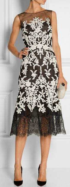 Lace Midi Dress / Oscar de la Renta