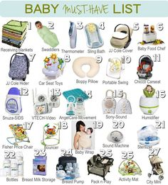 A List of Baby Must Haves! Great guide on what to get before the baby is born! #babymusthaves #happybabytips #greatbabyshowergifts