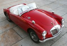 The MGA, one of the most beautiful of all the 1950s British sports cars, and one that is still relatively affordable to
