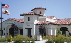 Pacific Highlands Ranch Fire Station, San Diego, CA - Old Mission Blend and Carmel, CA Clay Roof Tiles, San Dimas, Highlands Ranch, House Roof, Hotels And Resorts, Custom Homes, Roof Ideas, Mansions, House Styles