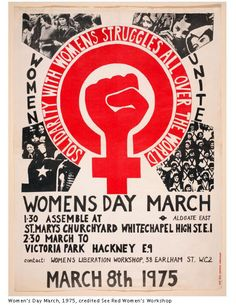 Women's Day March Poster 1975. Credited See Red Women´s Workshop.