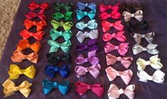"4"" Collection of 40 Boutique Style Hair Bows"